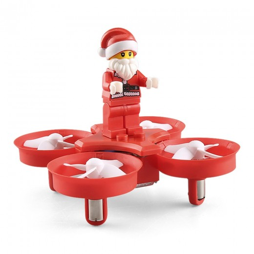 JJRC H67 Flying Santa Claus 2.4G 4CH 6Axis Headless Mode Toy Brick RC Quadcopter RTF - Red