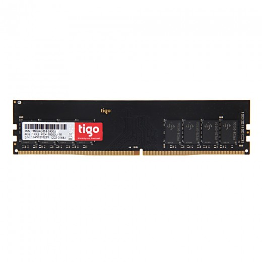 Tigo 4GB DDR4 UDIMM Memory Bank 2400MHz for Desktop Memory Modules - Black