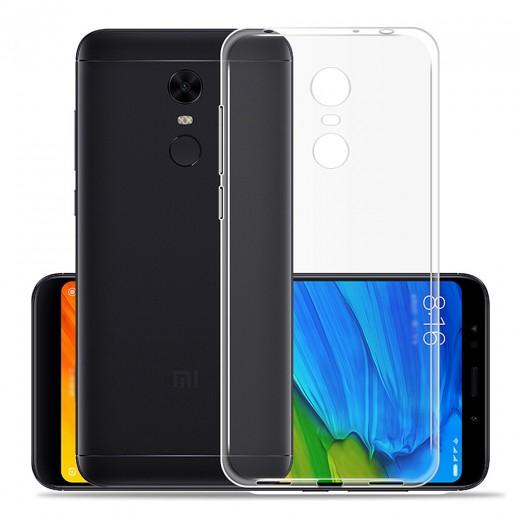 Xiaomi Redmi 5 Plus Silicon Back Cover - Transparent