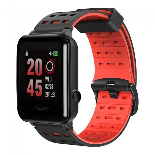 WeLoop Hey 3S wasserfeste GPS Sport Smartwatch - Rot