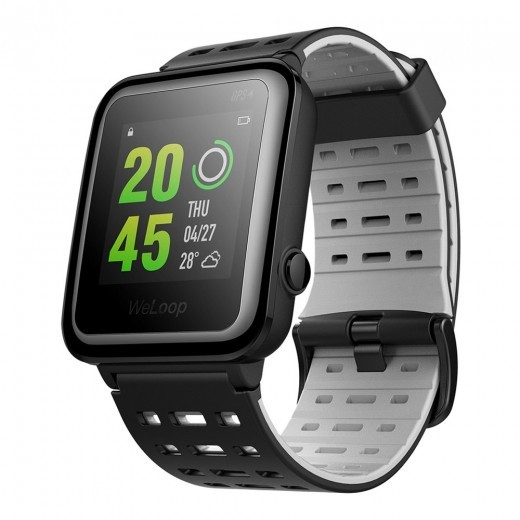 WeLoop Hey 3S Waterproof GPS Sports Smart Watch - Black