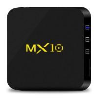 MX10 Android 7.1.2 4GB 32GB Tv Box - Schwarz