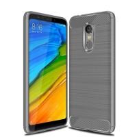 Hülle aus Öko-Leder für Xiaomi Redmi 5 Plus - Grau