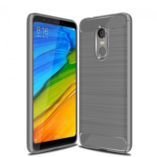 Xiaomi Redmi 5 Plus Carbon Fiber Brushed Phone Case - Grey