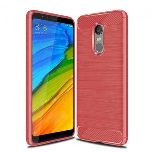 Housse en eco-cuir pour Xiaomi Redmi 5 Plus, Rouge