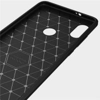 Xiaomi Redmi Note 5 Carbonfaser Design Hülle - Schwarz