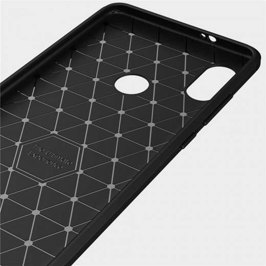 Brushed Carbon Fiber Phone Case for Xiaomi Redmi Note 5 - Black