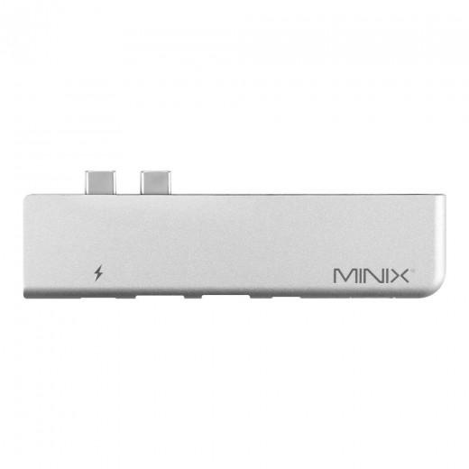 Minix NEO-C-DGR Ladegerät und Multiport Adapter für Macbook Pro – Grau