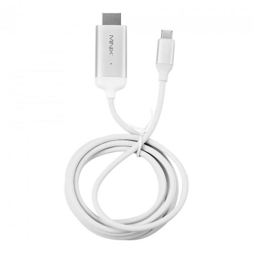 MINIX NEO C-4KSI USB-C auf HDMI Kabel - Silber