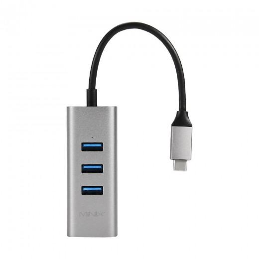 MINIX NEO C-UEGR Adaptateur 3 ports USB et Gigabit - Space Gray