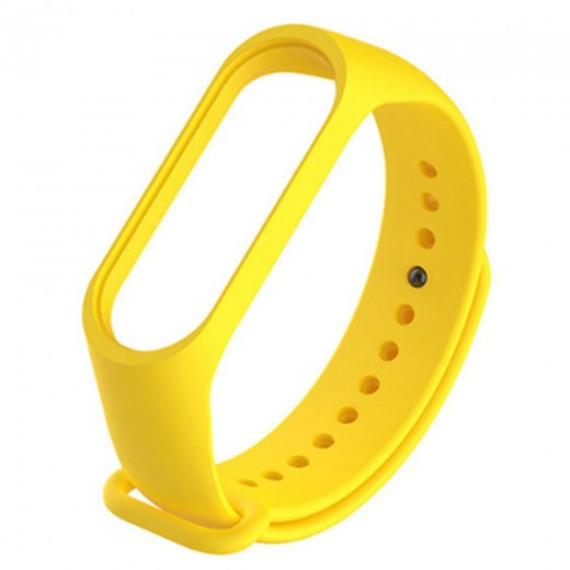 Silicon Replacement Strap for Xiaomi Mi Band 3 - Yellow