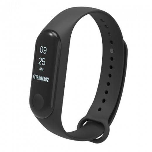 Silicon Replacement Strap for Xiaomi Mi Band 3 - Black