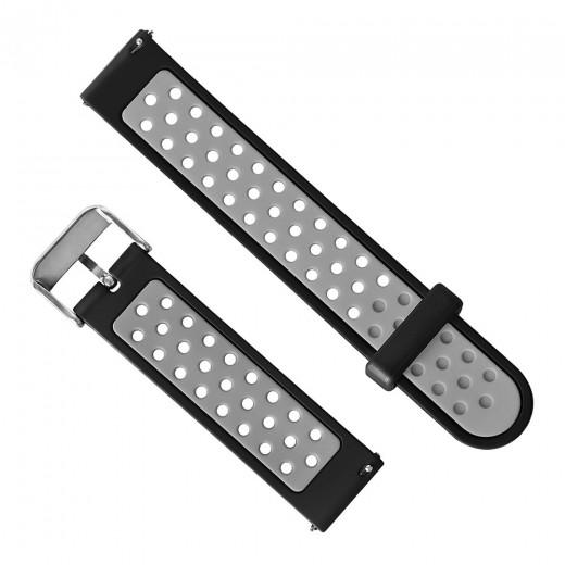 Silikon Armband für Xiaomi Huami Amazfit Bip - Schwarz und grau