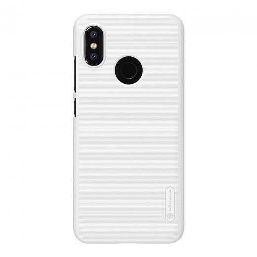 NILLKIN Hard Phone Case For Xiaomi Mi8 Protective Back Cover - White