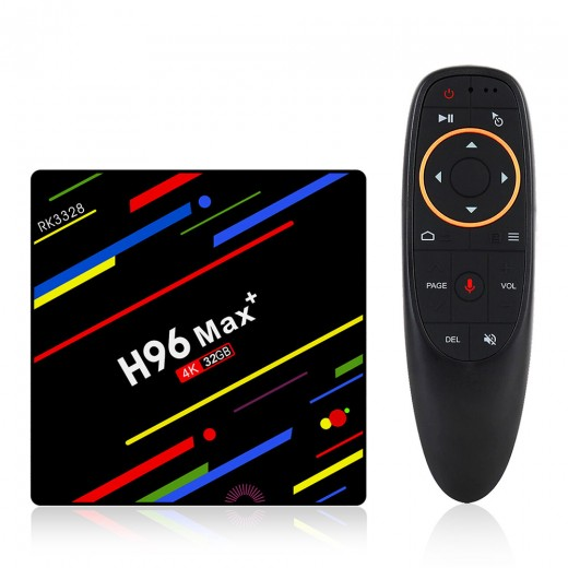 H96 MAX PLUS Tv Box Android 4/32GB with remote controller and vocal commands