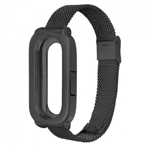Armband aus Stahl für Xiaomi Mi Band 3 - Schwarz