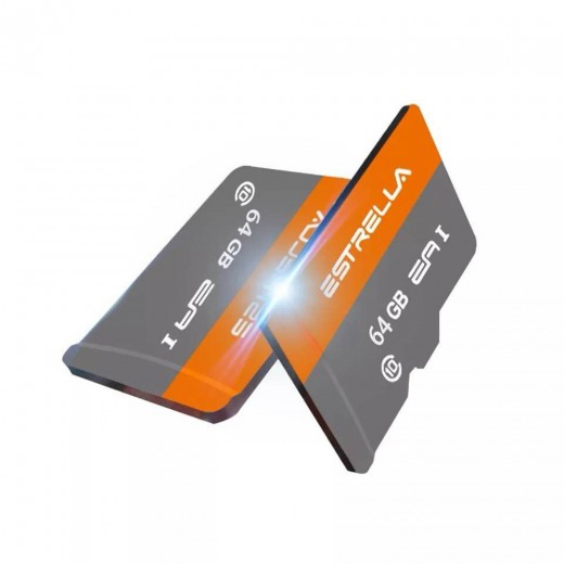 ESTRELLA Carte Mémoire Micro SD 64Go Class10 SDHC