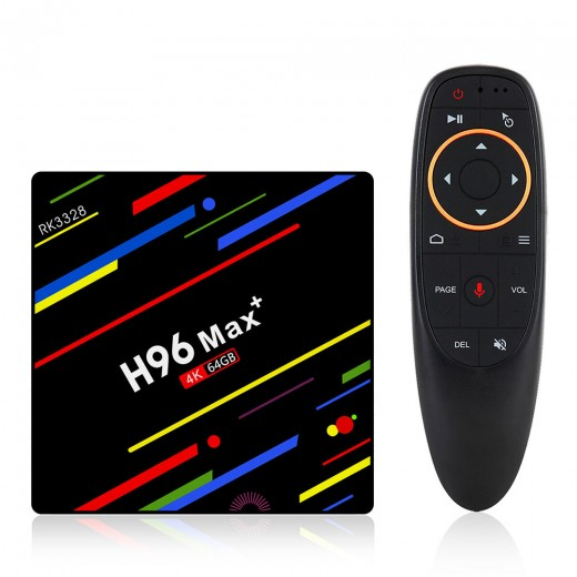 H96 MAX PLUS Tv Box Android 4/64GB with remote controller and vocal commands
