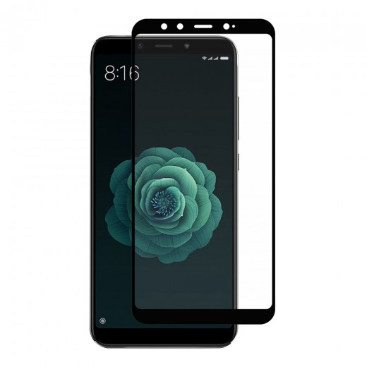 Verre trempé pour Xiaomi Mi A2, Noir