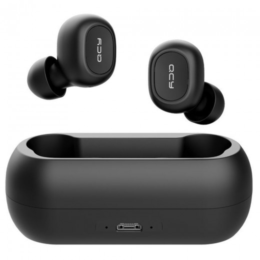 QCY T1C Bluetooth Earphones - Black