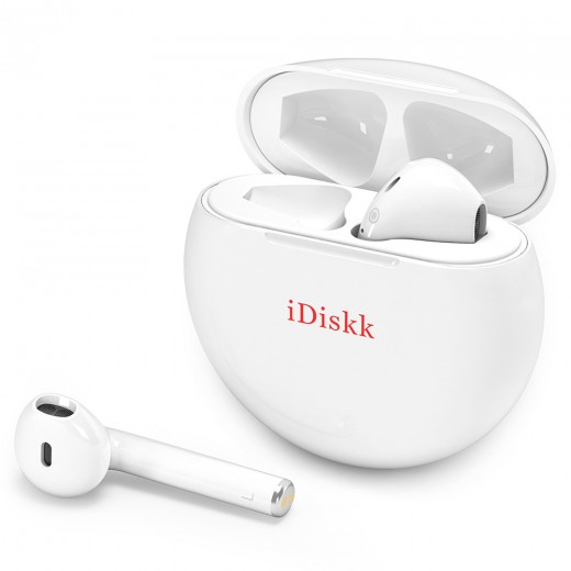 iDiskk i51 TWS Bluetooth drahtlose Ohrhörer - Weiß