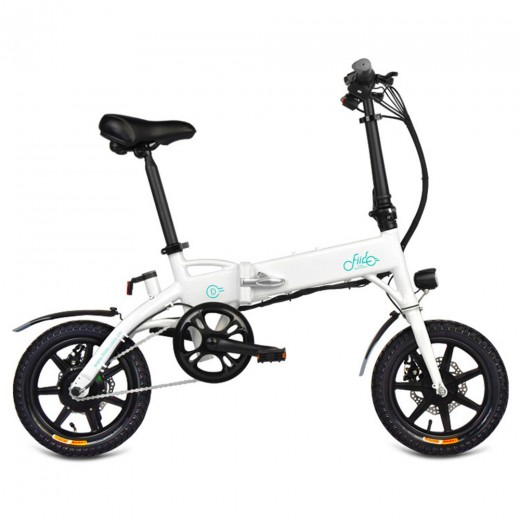 FIIDO D1 Folding Moped E-Bike 10.4Ah Battery - White