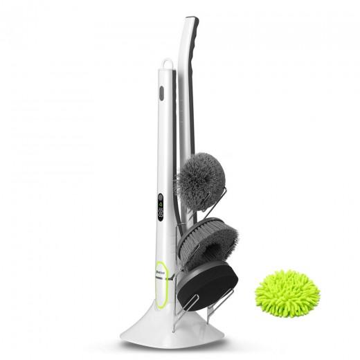 Spin Scrubber brosse de nettoyage électrique avec écran LED - Blanche