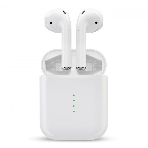 i10 TWS Bluetooth Earphones, White