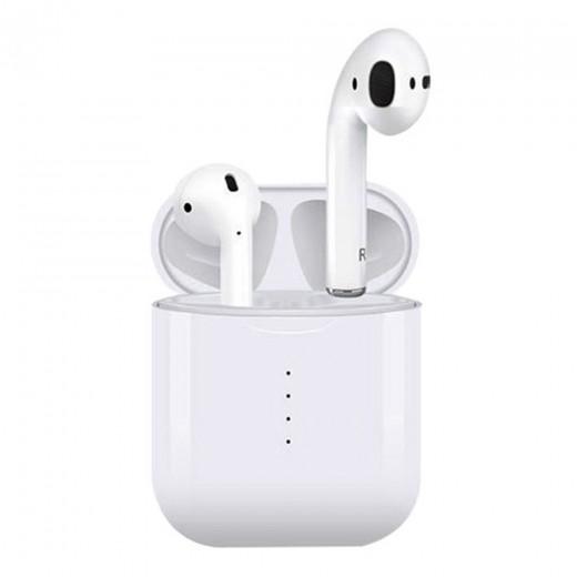 i10 TWS Écouteurs Bluetooth avec charge par induction, Blanc