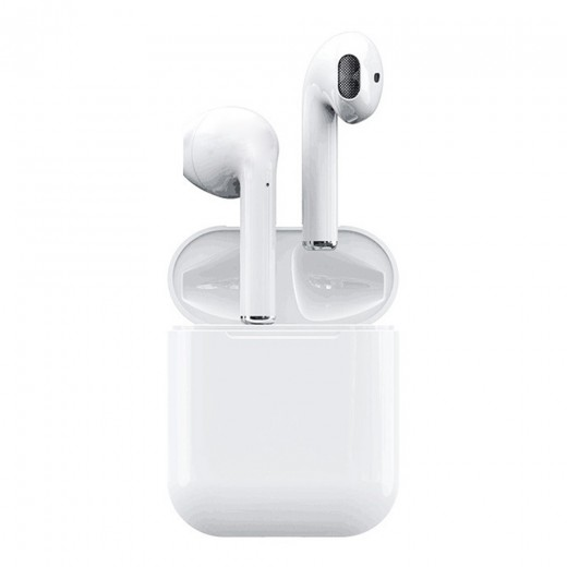 i12 TWS Wireless Bluetooth Earphones - White