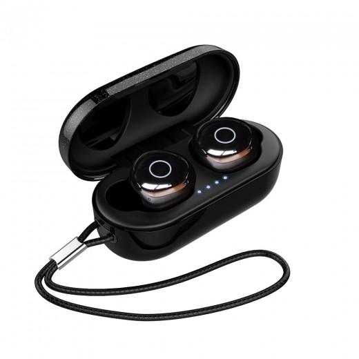 OVEVO Q65 TWS Bluetooth V5.0 Ohrhörer- Schwarz