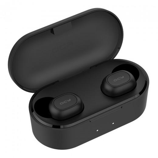 QCY T2C/T1S TWS Dual Écouteurs Bluetooth 5.0, Noir
