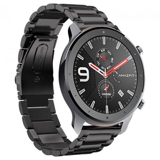 Armband aus Stahl für Xiaomi Huami Amazfit GTR 47mm - Schwarz