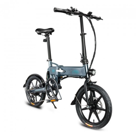 FIIDO D2S Folding Electric Moped Bike - Gray