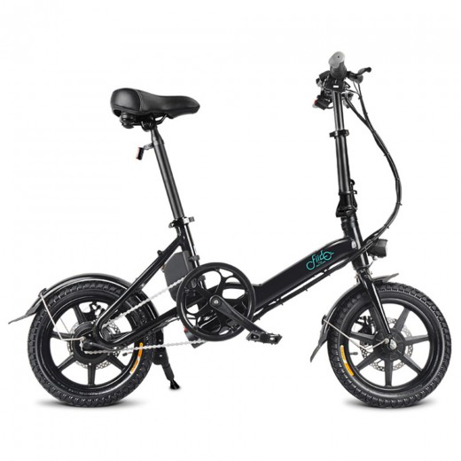 FIIDO D3 Folding Electric Moped Bike - Black