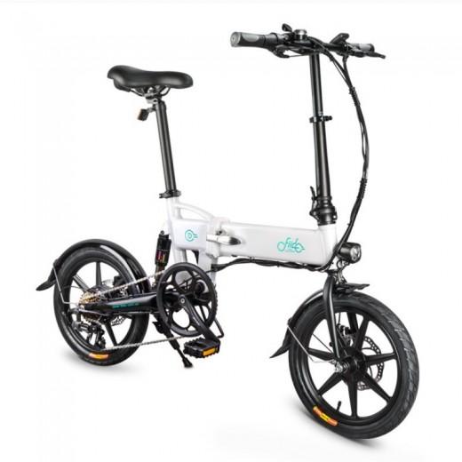 FIIDO D2S Folding Electric Moped Bike - White