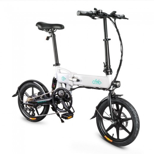 FIIDO D2S Folding Electric Moped Bike - White