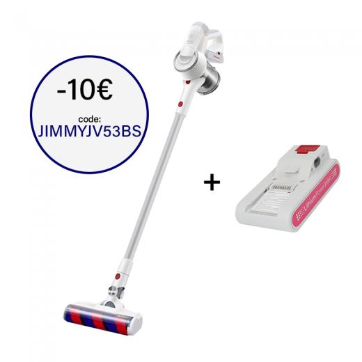 Xiaomi JIMMY JV53 Argent + Batterie supplémentaire | Balai aspirateur sans fil