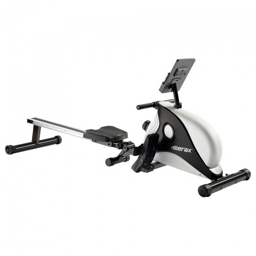 Merax Folding Magnetic Rowing Machine - White