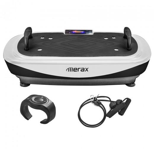 Merax Plateforme Vibrante 4D avec écran LED - Blanc