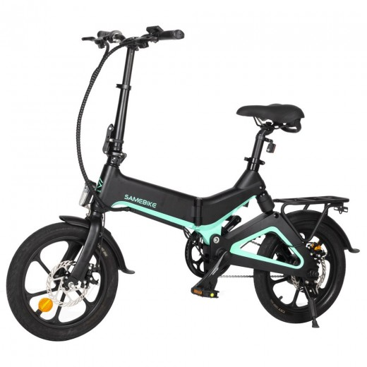 Samebike JG7186 Folding Electric Moped Bike - Black
