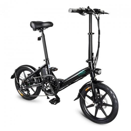 FIIDO D3S Folding Electric Moped Bike - Black