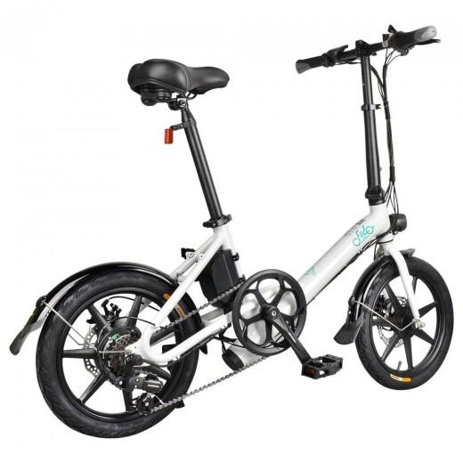 FIIDO D3S Folding Electric Moped Bike - White