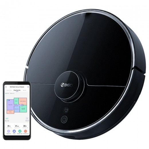 360 S7 Pro Smart Robotic Vacuum Cleaner - Black