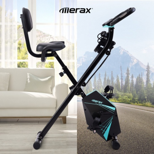 Merax Foldable Fitness Bike - Blue