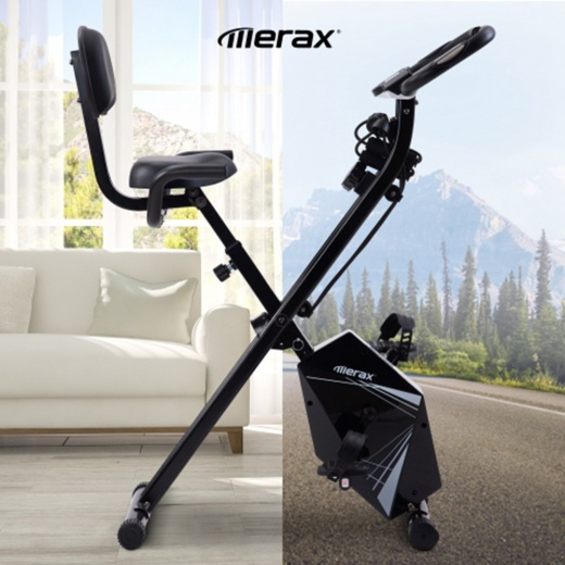 Merax Foldable Fitness Bike - White