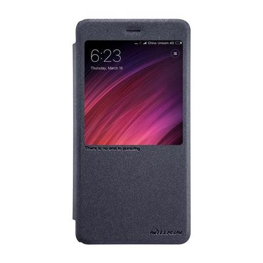 Cover in eco-pelle PU per Xiaomi Redmi Note 4X Nera