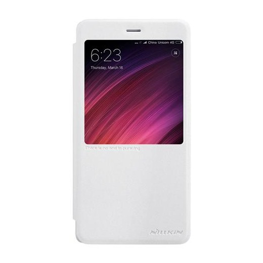 Cover in eco-pelle PU per Xiaomi Redmi Note 4X Bianca