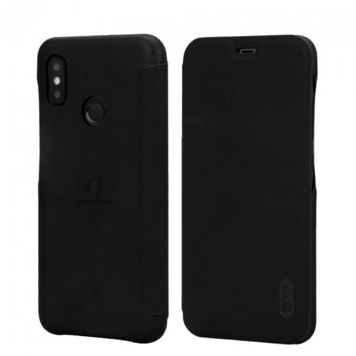 Housse Flip Cover Lenuo pour Xiaomi Mi8, Noire